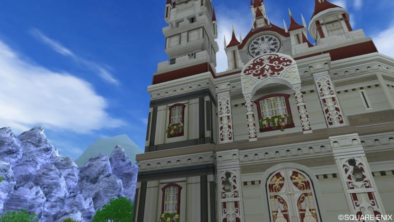 L土地に大きな城